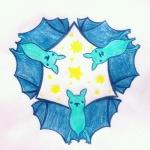 [星を集めたコウモリ]なんかムショーにコウモリ