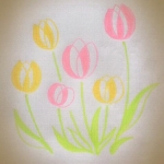 [チューリップ]ご近所さんに可愛く咲いていた