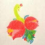 [エレガント]花を纏うことり