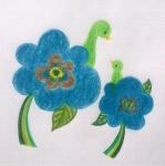 [幸せの]青い花のことり
