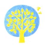 [月空の木]満月に佇む