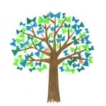 [りぼんの木]さんかくの葉っぱ