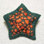 Asterina pectinifera:濃緑