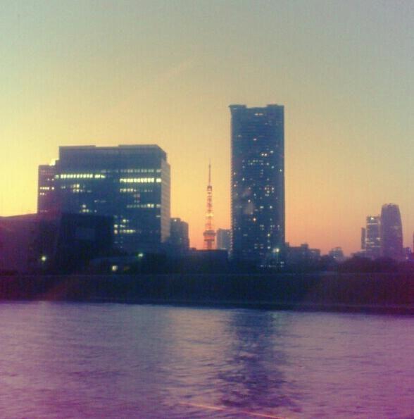 視線の先に東京タワー